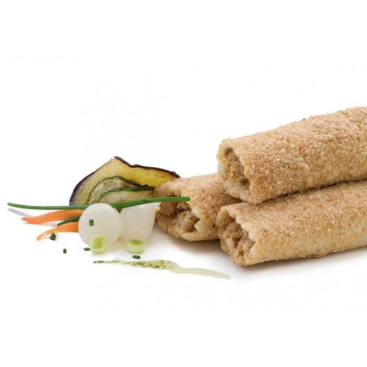 Canelons arrebossats de verdures variades