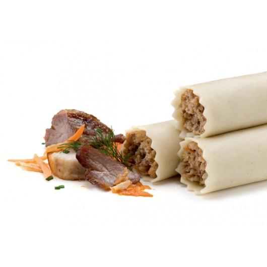 Canelons tradicionals de carn amb el preparat per fer la beixamel - Sense gluten