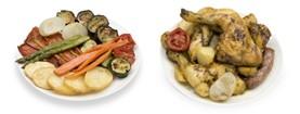Banner pollastre i verdures